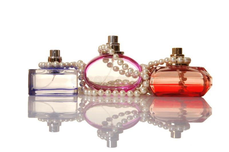beeds butelek szkła perły pachnidło fotografia royalty free