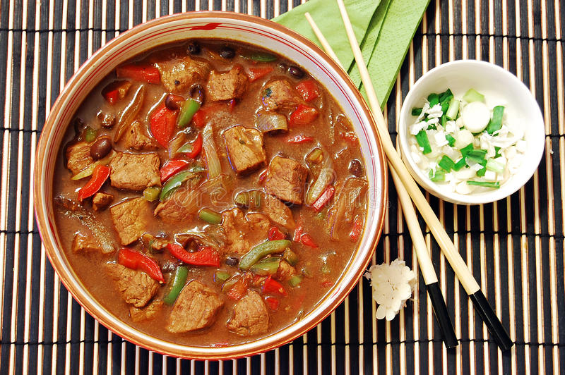 Download Beef in black bean sauce stock image. Image of delicious - 10052089