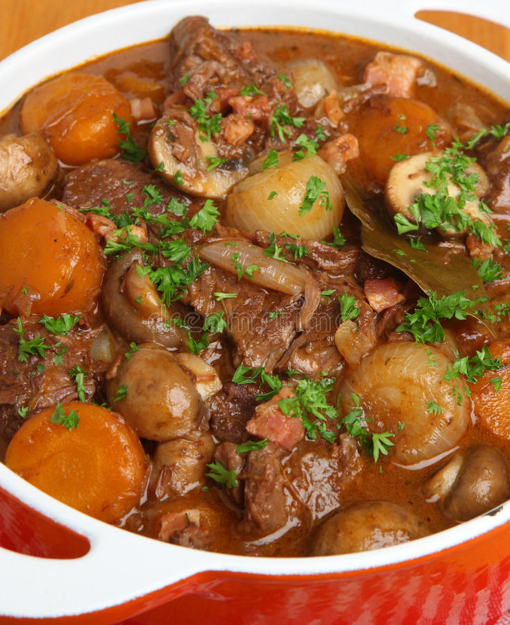Beef Bourguignon, Classic French Stew stock photo