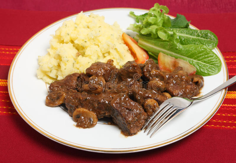 Beef Bourguignon dinner royalty free stock photo