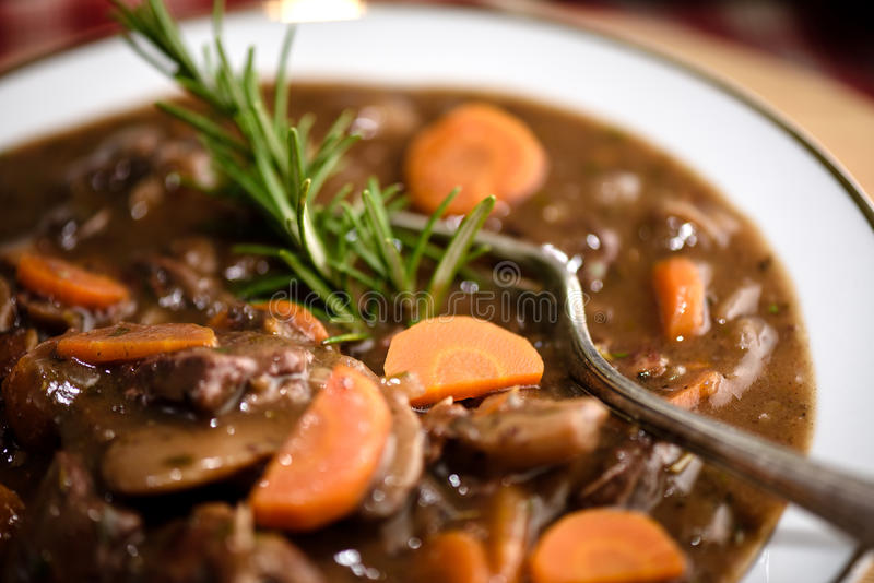 Beef bourguignon royalty free stock images