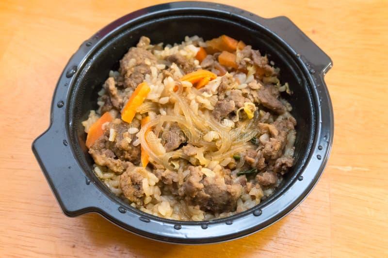 Beef Bulgogi Rice Bowl arkivfoton