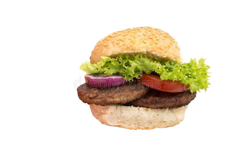 Beef Burger Stock Image