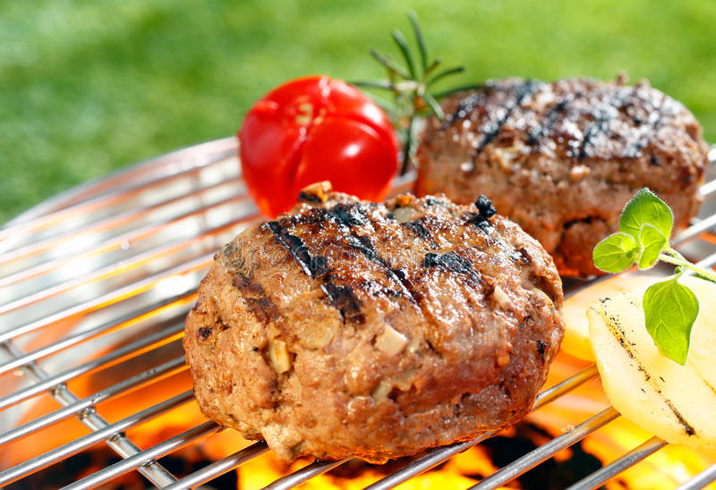 Beef burgers royalty free stock photography