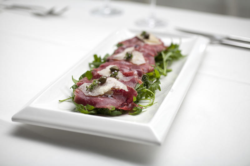 Download Beef carpaccio stock photo. Image of parmesan, appetizer - 26639132