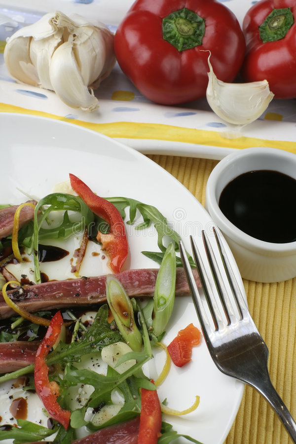 Download Beef Carpaccio; Above Close Crop Stock Photo - Image: 1240142
