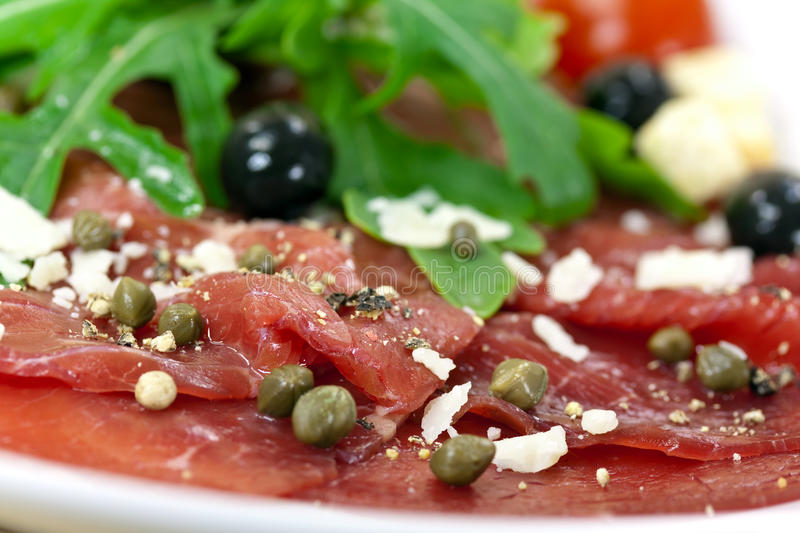 Download Beef Carpaccio With Pepper, Rucola And Parmesan Stock Photo - Image: 9477470