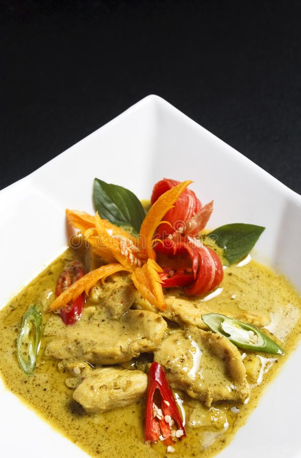 Beef or chicken green curry royalty free stock photos