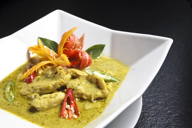 Beef or chicken green curry. Traditional asia ncuisine stock photos