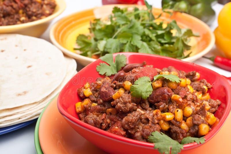Beef chili stock photo