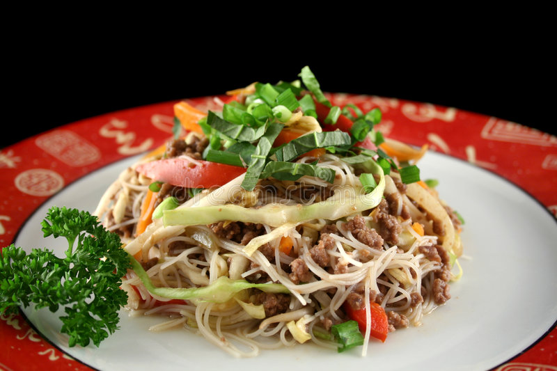 Beef Chow Mein 2. Stirfry beef chow mein with fresh Chinese vegetables royalty free stock photos