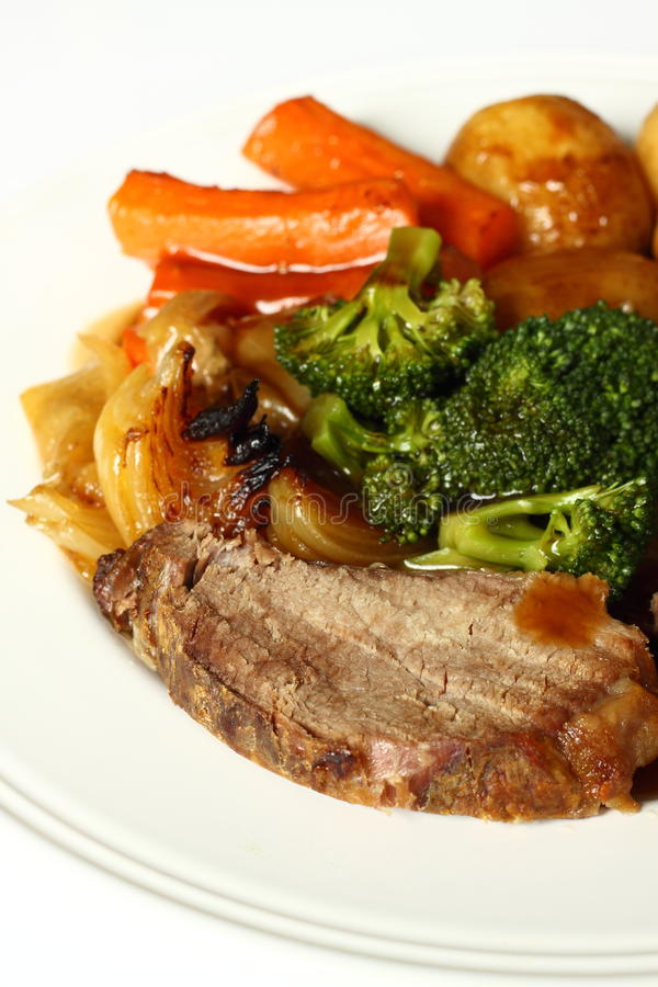 Download Beef dinner stock photo. Image of potato, meat, vegetable - 18880684