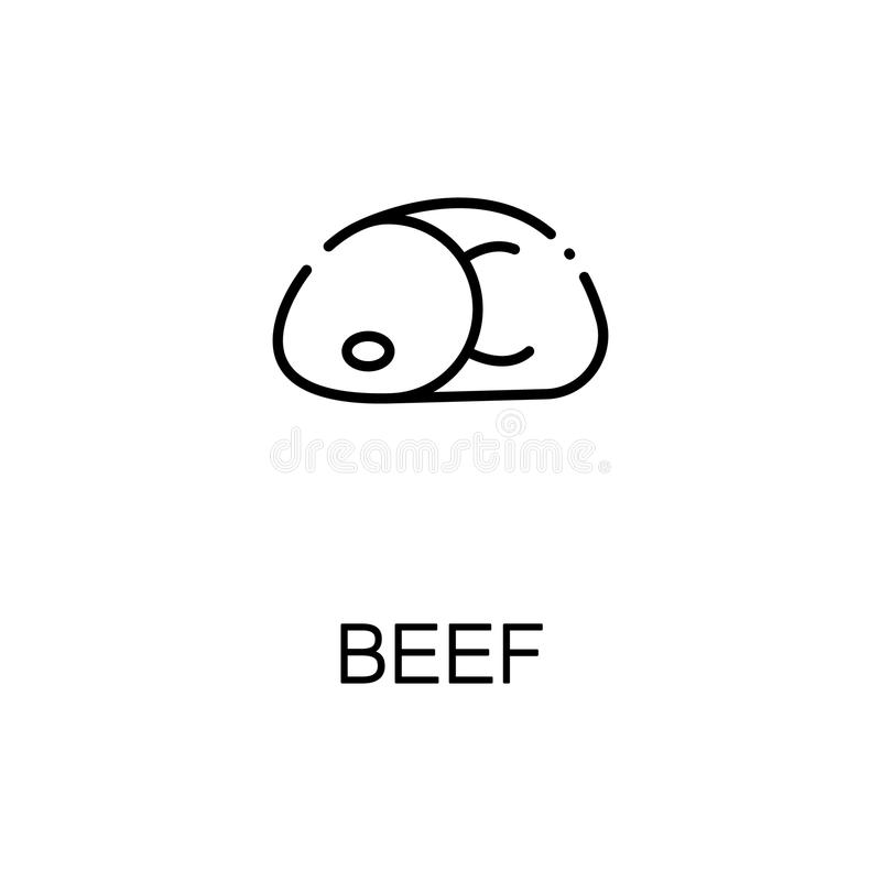 Beef Flat Icon Or Logo For Web Design Stock Vector Illustration