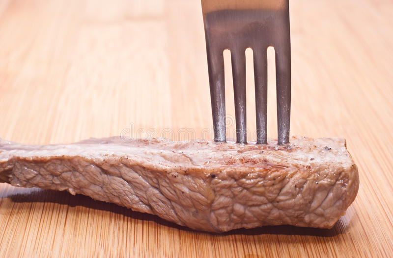 Download Beef with fork stock image. Image of meat, pepper, chop - 31505141