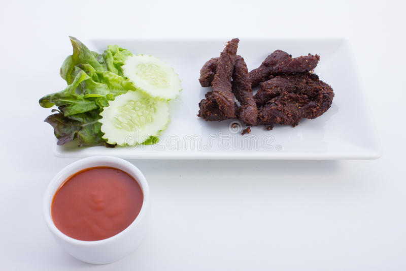 Beef with Garlic. Is food thailand stock photos