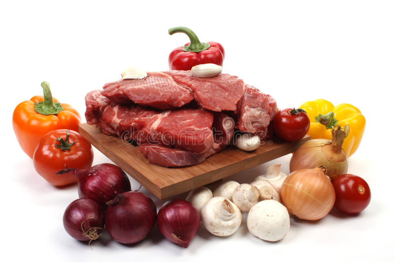 Beef and ingredients royalty free stock image