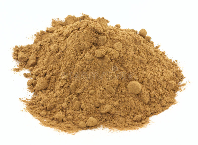 Beef liver powder royalty free stock photos