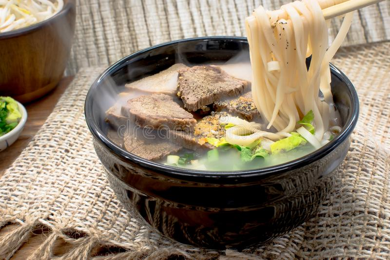 Beef Noodle Soup royalty free stock photo