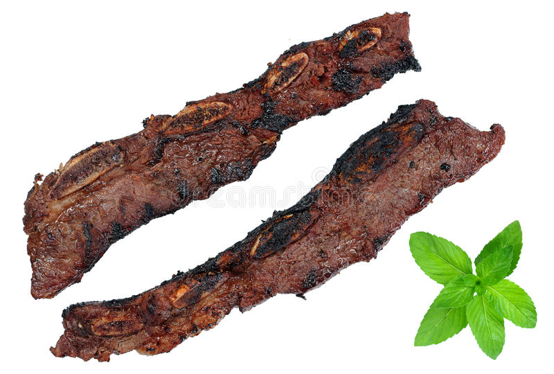 Download Beef rib stock photo. Image of bone, white, meat, green - 31615596
