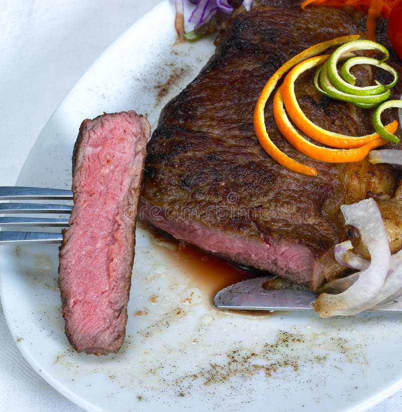 Beef ribeye steak royalty free stock photography