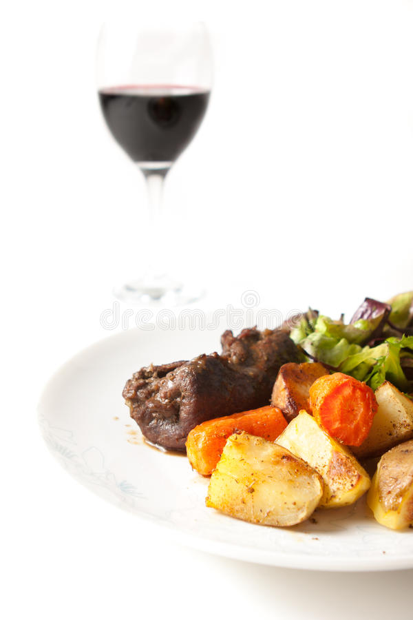 Download Beef roulade stock image. Image of salad, baked, potatoes - 30488343