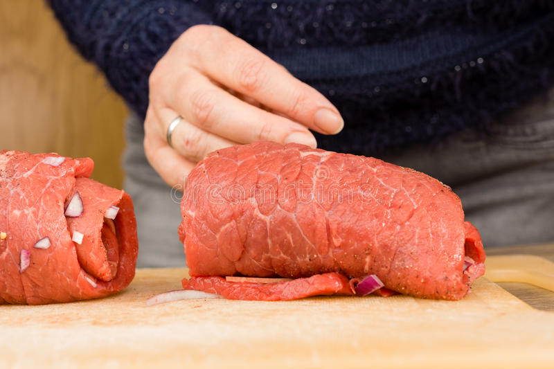 Beef roulade stock photos