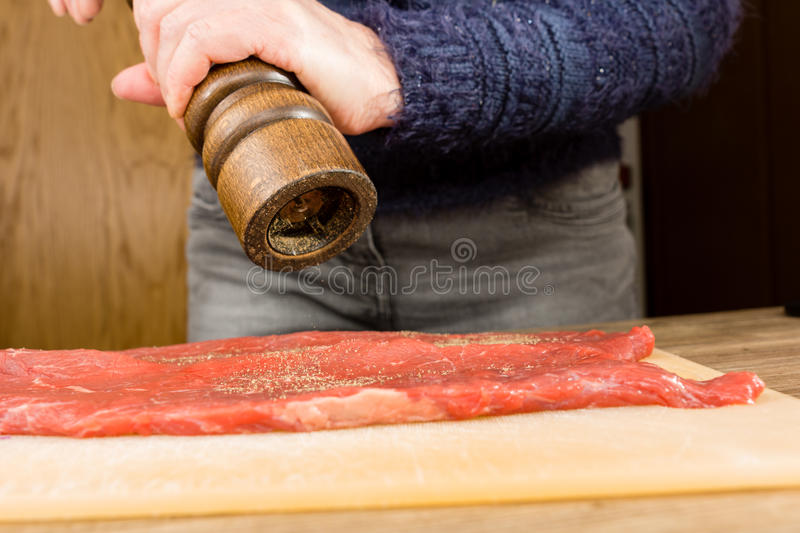 Beef roulade stock photo