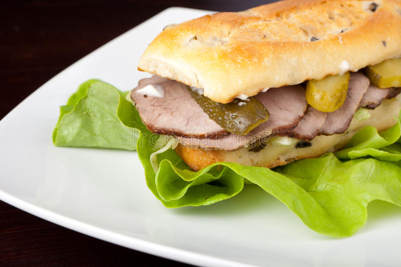 Download Beef Sandwich Royalty Free Stock Photo - Image: 13351535