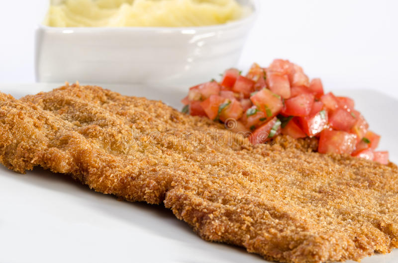 Beef schnitzel royalty free stock images