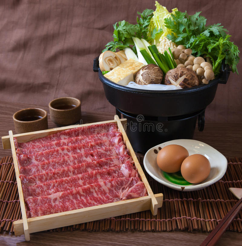 Beef Slices Hotpot royalty free stock photos