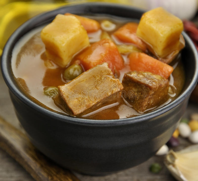 Download Beef Soup With Vegetables stock image. Image of carrots - 22701865