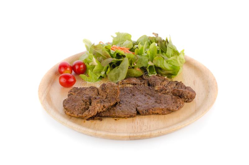 Beef stake isolate on white background royalty free stock photos