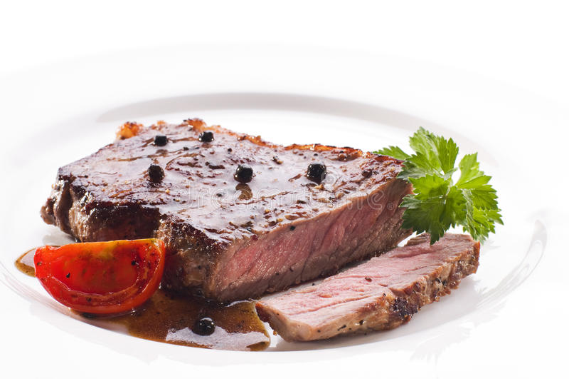 Download Beef steak stock photo. Image of juicy, pepper, parsley - 16604702