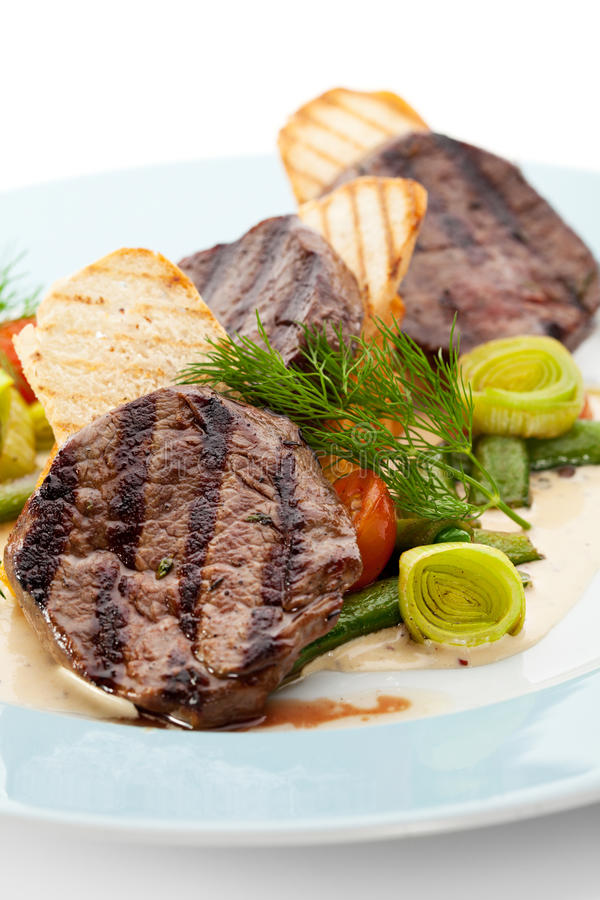 Download Beef Steak stock photo. Image of dish, fillet, beef, dill - 24829252