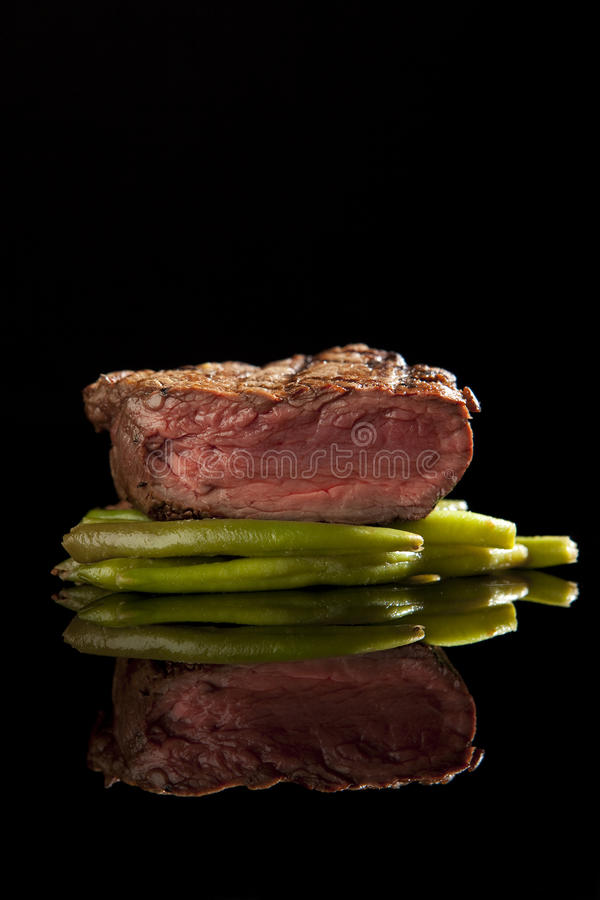 Beef Steak Medium Rare Royalty Free Stock Images