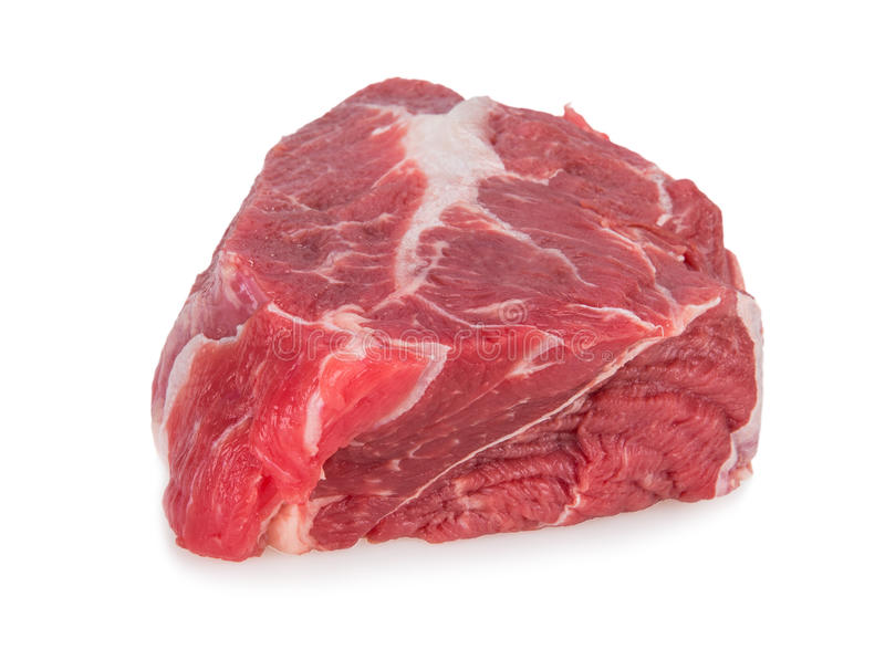 Beef steak on white background stock image