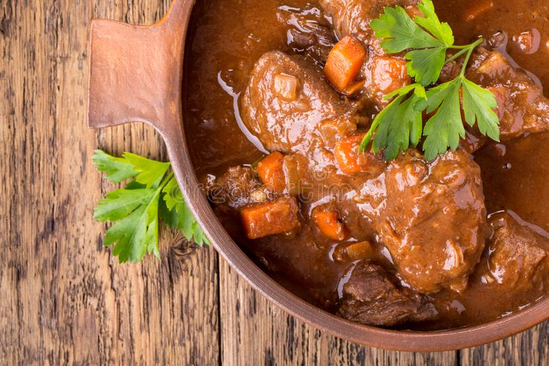 Beef stew with carrot royalty free stock photography
