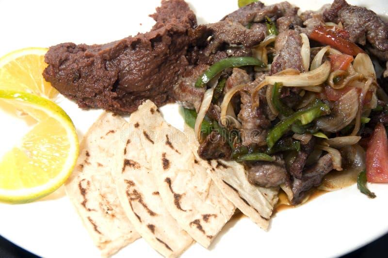 Download Beef Stir Fry Beans Tamales Nicaragua Stock Image - Image: 18625301