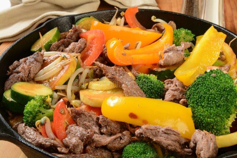 Beef stir fry royalty free stock photos