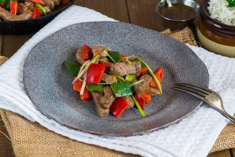 Beef stir fry stock image