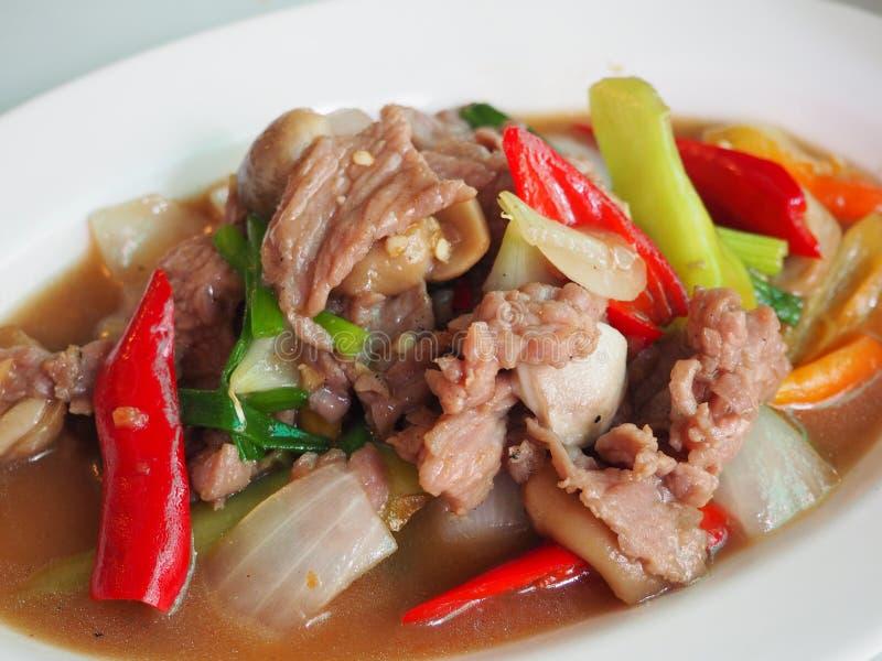 Beef Stir Fry in Thailand. Beef Stir Fry dish in Thailand stock photo
