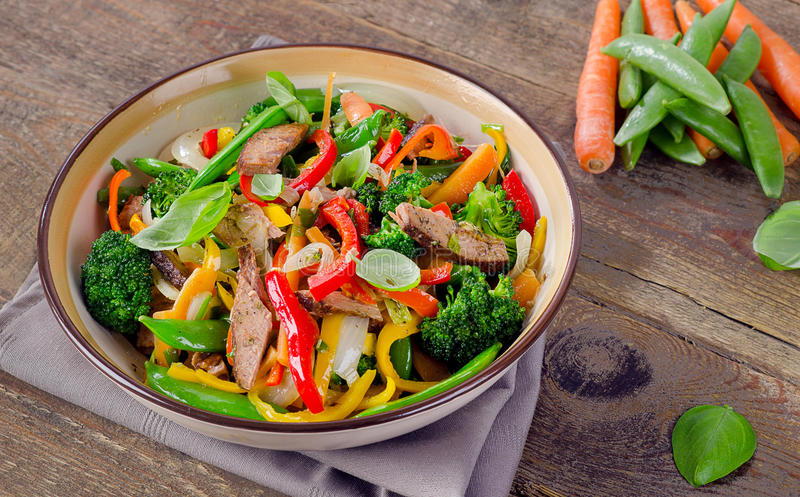 Beef stir fry royalty free stock images