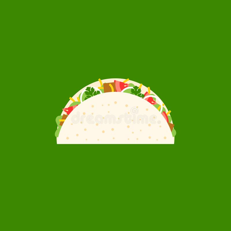 Beef Taco icon royalty free illustration