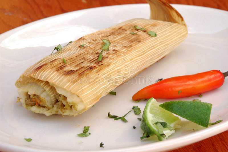 Beef tamale royalty free stock image