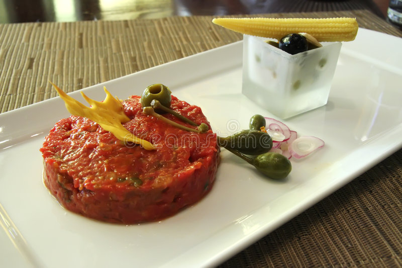Download Beef tartare stock photo. Image of bread, lunch, detail - 7139938