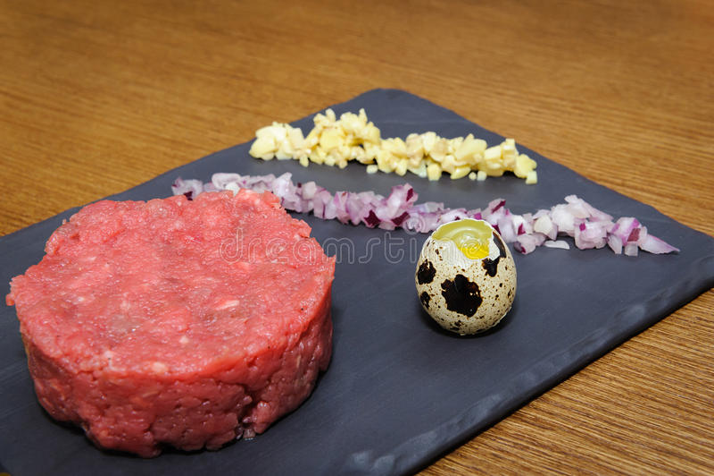 Beef tartare stock photos