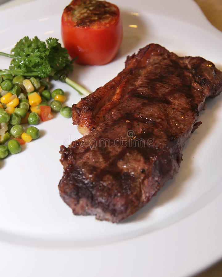 Download Beef tenderloin steak stock image. Image of nobody, course - 9437619
