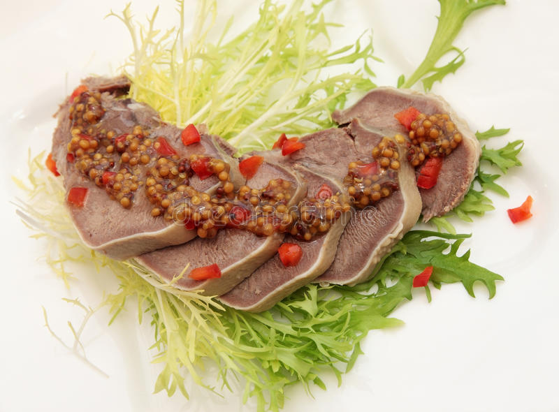 Download Beef Tongue With The Mustard Sauce Stock Photo - Image: 22804126