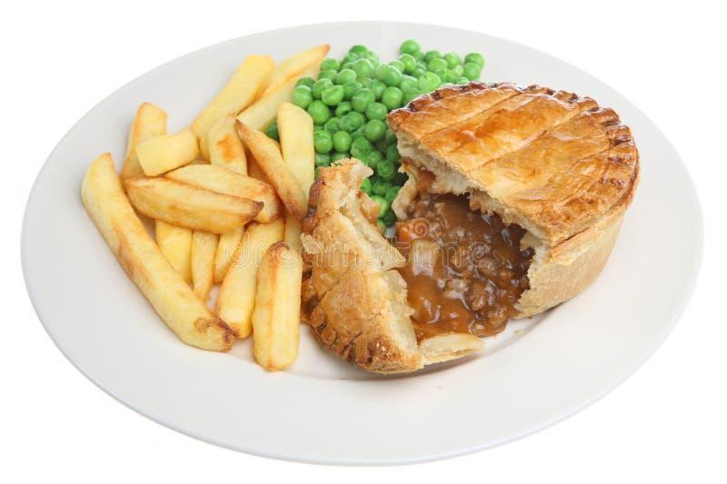 Beef & Vegetable Pie royalty free stock image