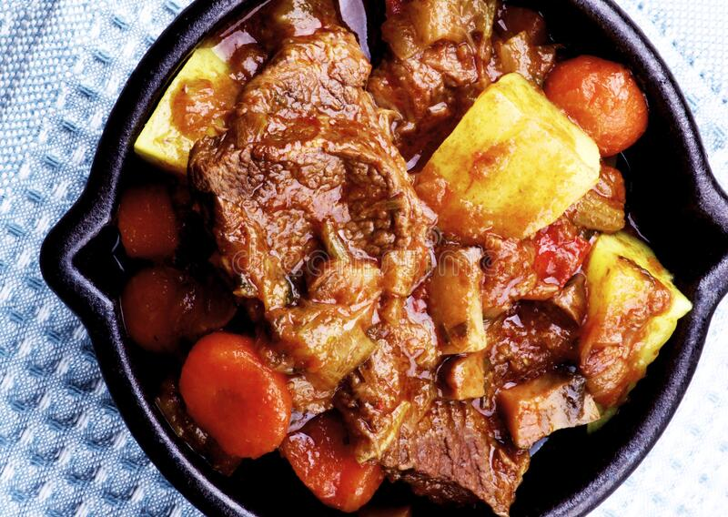 Beef and Vegetables Stew stock images